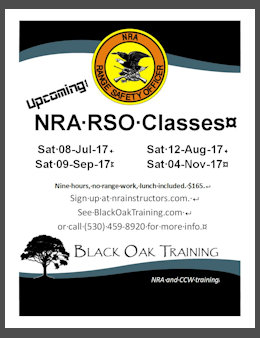 Poster for NRA classes