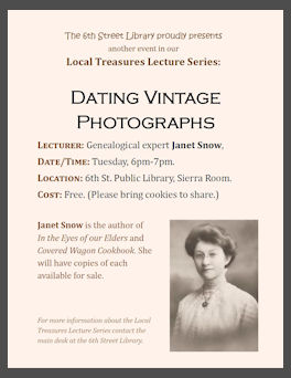 Poster for library lecture series
